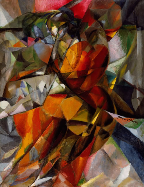 Jacques Villon (French, 1875–1963), Young Girl, 1912. Oil on canvas, 57 9/16 × 45 in. (146.2 × 114.3 cm). Philadelphia Museum of Art: The Louise and Walter Arensberg Collection, 1950, 1950-134-190