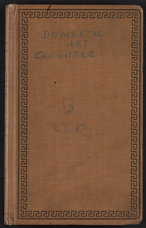 Association of American Painters and Sculptors Domestic Art Committee record book, 1913. Walt Kuhn, Kuhn family papers, and Armory Show records, Archives of American Art, Smithsonian Institution