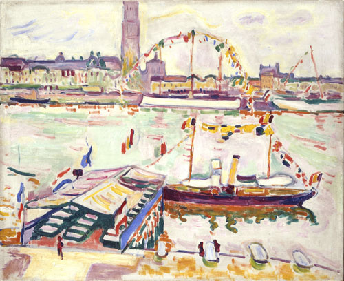 Georges Braque (French, 1882–1963), The Port of Antwerp (Le Port d'Anvers), 1906. Oil on canvas, 19⅞ × 24¼ in. (50.5 × 61.5 cm). Emanuel Hoffmann Foundation, permanent loan to the Öffentliche Kunstammlung Basel, Acc. No. H 1935.1