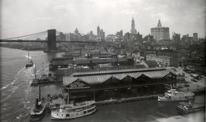 View of Manhattan South from the Manhattan Bridge, 1913