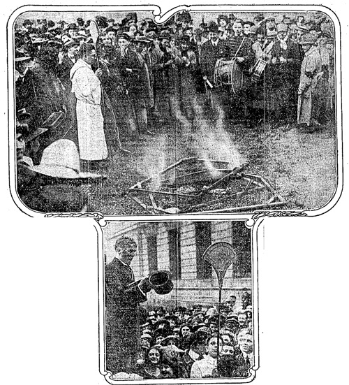 """Students Burning Futurist Art and Celebrating Cubists' Departure,"" Chicago Daily Tribune, April 17, 1913"