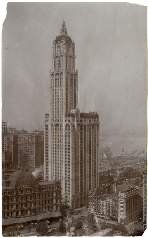 Woolworth Building, 1913. Gelatin silver photograph. New-York Historical Society
