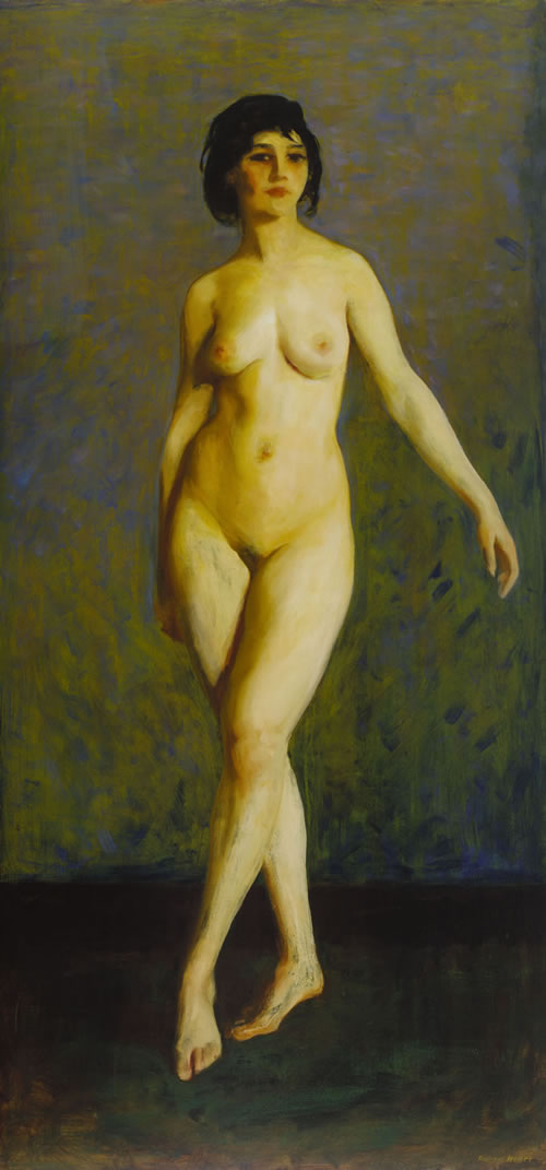 Robert Henri (American, 1865–1929), Figure in Motion, 1913. Oil on canvas, 77¼ × 37¼ in. (196.2 × 94.6 cm). Terra Foundation for American Art, Chicago, Ill., Daniel J. Terra Collection, 1999.69
