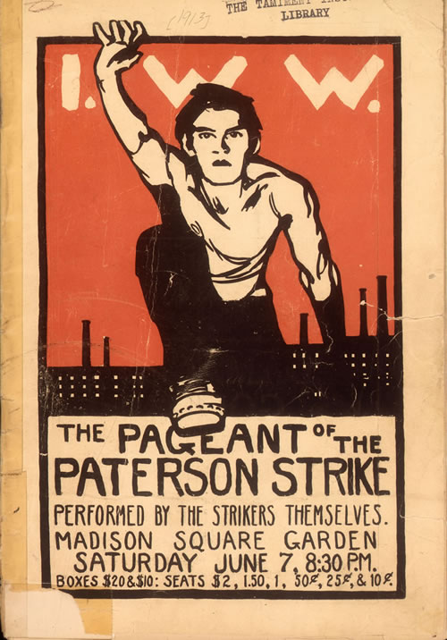 Robert Edmond Jones, The Pageant of the Paterson Strike, Madison Square Garden, New York, June 7, 1913. Tamiment Library and Robert F. Wagner Labor Archives, New York University