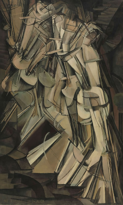Marcel Duchamp (French, 1887–1968), Nude Descending a Staircase (No. 2), 1912. Oil on canvas, 57⅞ × 35⅛ in. (147 × 89.2 cm). Philadelphia Museum of Art: The Louise and Walter Arensberg Collection, 1950, 1950-134-59