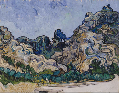 Vincent van Gogh (Dutch, 1853–1890), Mountains at Saint-Rémy (Montagnes à Saint-Rémy), 1889. Oil on canvas, 28¼ × 35¾ in. (71.8 × 90.8 cm). Solomon R. Guggenheim Museum, New York, Thannhauser Collection, Justin K. Thannhauser, 1978, 78.2514.24