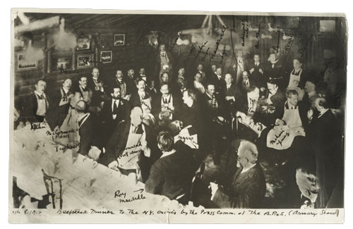 Percy Rainford, Armory Show artists at dinner, 1913. Walt Kuhn, Kuhn family papers, and Armory Show records, Archives of American Art, Smithsonian Institution