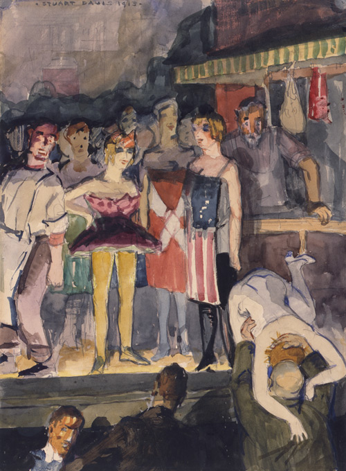 Stuart Davis (American, 1892–1964), Babe La Tour, 1912. Watercolor and pencil on paper, 15 × 11 in. (38.0 × 28.0 cm). Smithsonian American Art Museum, Gift of Henry H. Ploch, 1983.84. Art © T.H. Benton andR.P. Benton Testamentary Trusts/UMB Bank Trustee/Licensed by VAGA, New York, N.Y.
