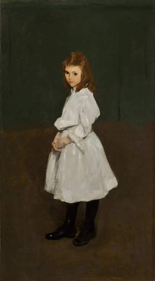 George Bellows (American, 1882-1925). Little Girl in White (Queenie Burnett), 1907. Oil on canvas. National Gallery of Art, Washington, Collection of Mr. and Mrs. And Paul Mellon, 1983.1.2