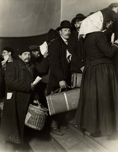 Lewis Wickes Hine (1874–1940), Climbing Into America, Ellis Island, 1905. Gelatin silver print. George Eastman House, Gift of the Photo League, New York